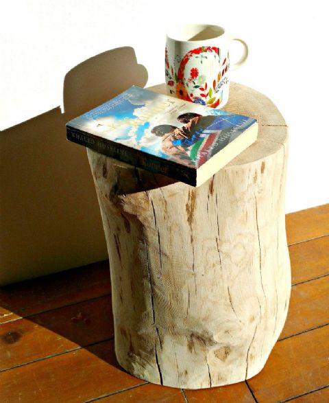 **LAST ONE!** OAK LOG SIDE TABLE